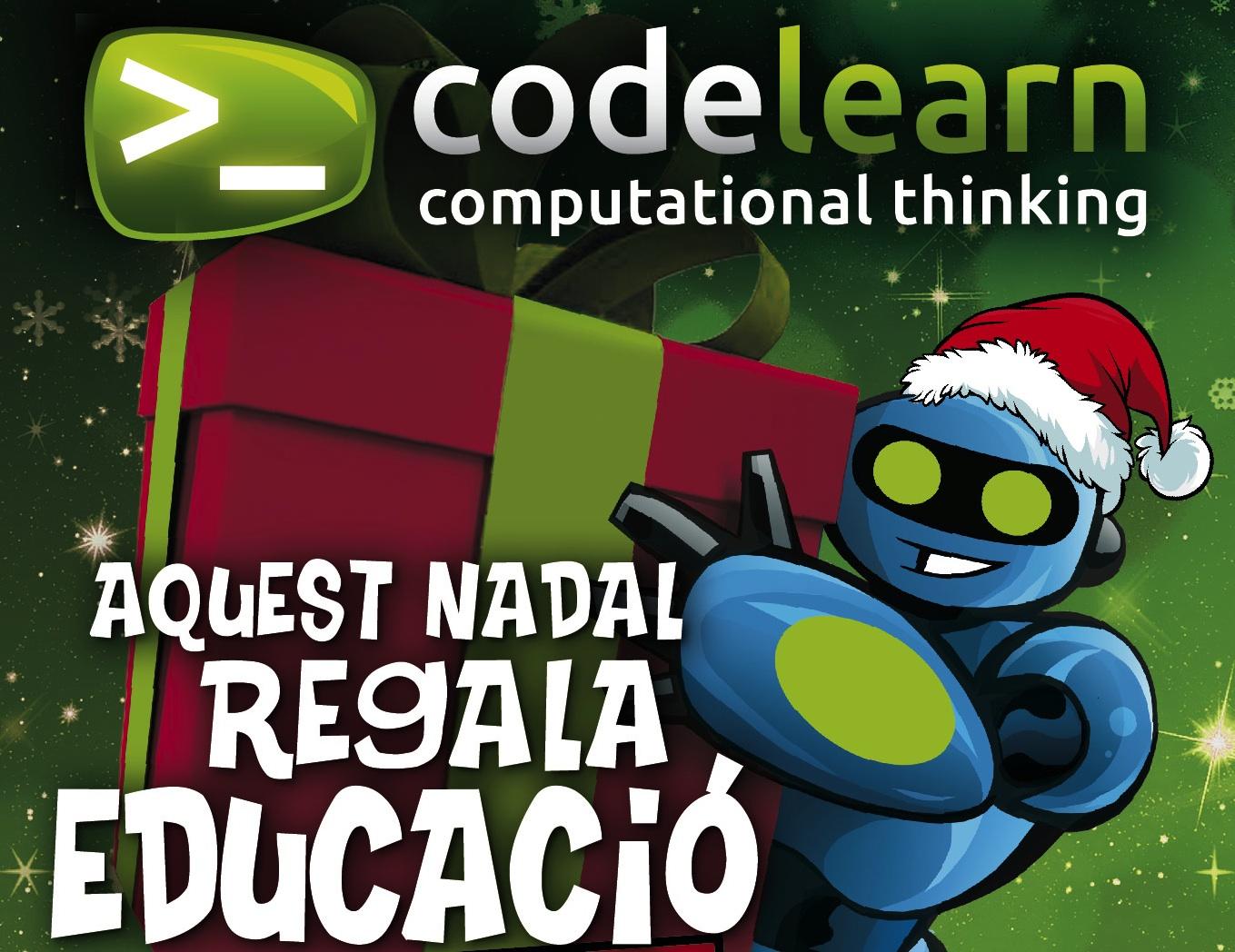 Aquest Nadal regala educació, regala Codelearn
