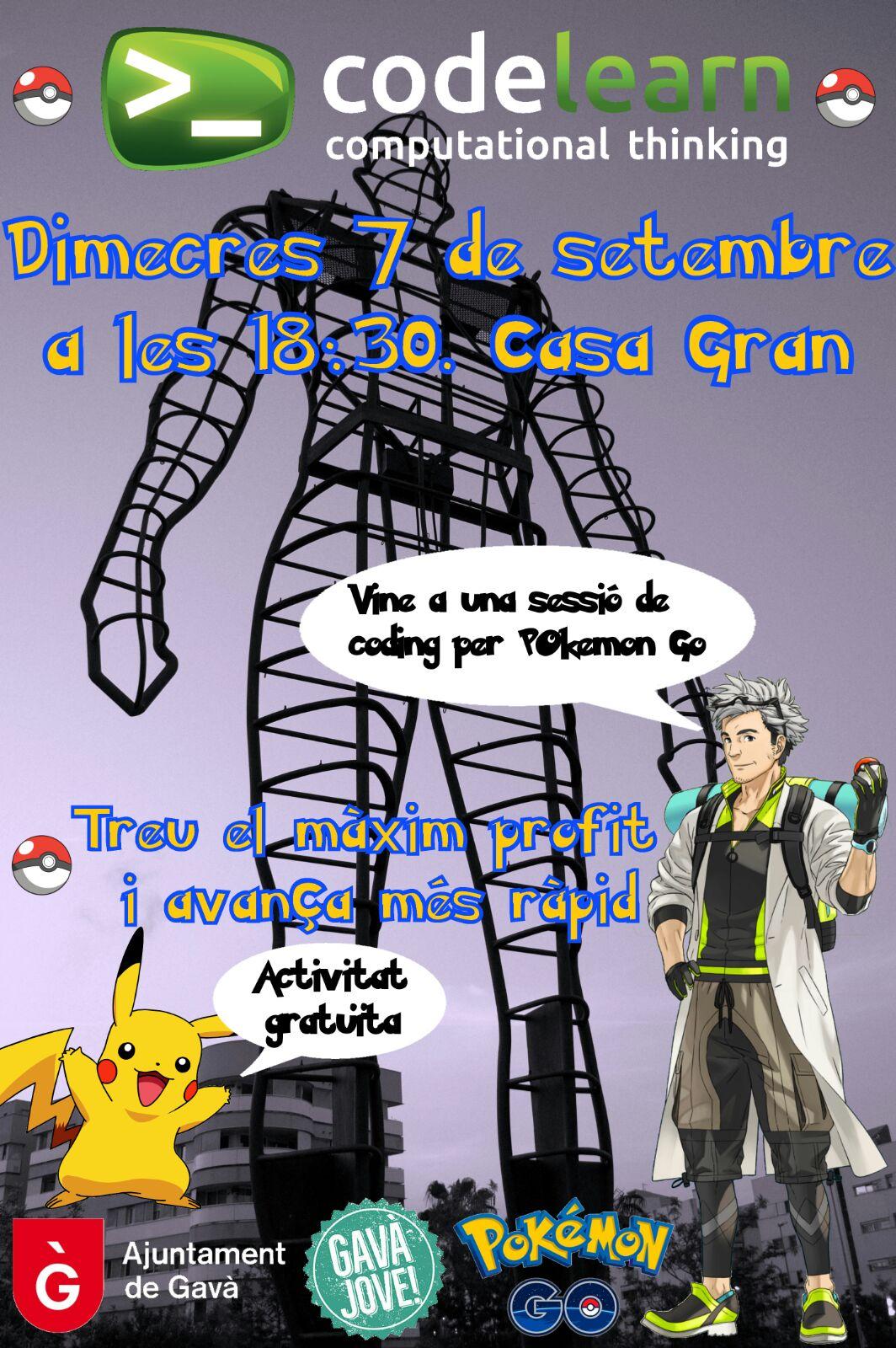Sessió de coding per Pokémon Go a Gavà