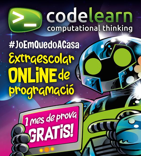 Recursos educatius per aprendre des de casa: Codelearn ofereix un mes de prova del seu mètode online