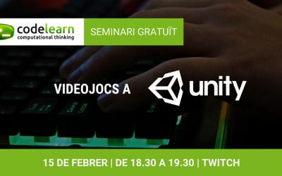 Seminari online gratuït sobre videojocs a Unity